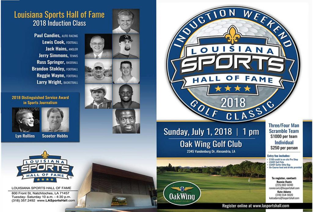 Alexandria's OakWing Club set to host 2018 Louisiana Sports Hall of Fame Golf Classic