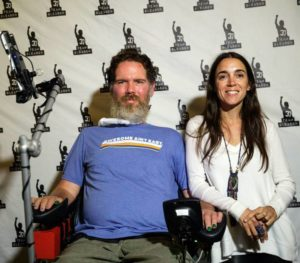Steve Gleason and his wife Michel